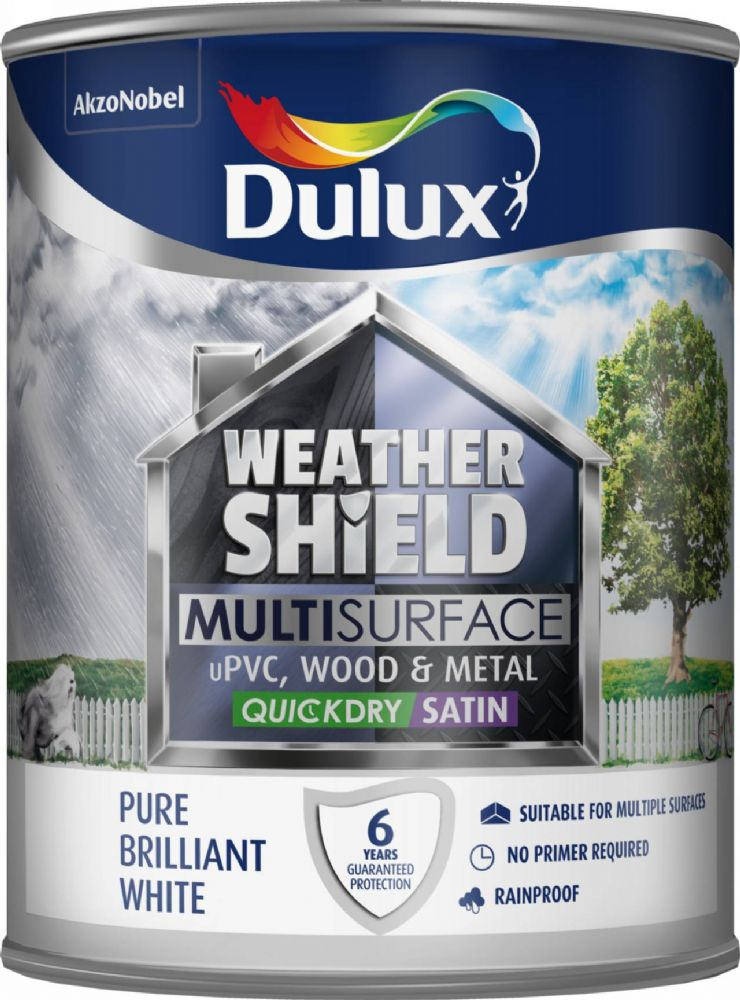 Dulux Weathershield Multi Surface Quick Dry Satin 750ml